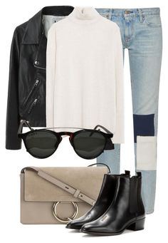 """""""Untitled #2187"""" by rosyfilm ❤ liked on Polyvore featuring Simon Miller, Acne Studios, Chloé, Zara and Yves Saint Laurent"""