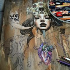 The Friday WIP! Check this out by Wendy Ortiz...Aaamazing! @wendyortizart by beautifulbizarremagazine