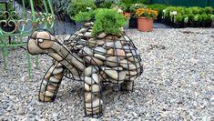 Easy Garden Design Ideas You Can Do Yourself Easy Garden, Garden Art, Garden Ideas, Amazing Gardens, Beautiful Gardens, Rock Garden Design, Gabion Wall, Garden Stones, Sculpture Art