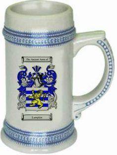 Lumpkin Coat of Arms / Family Crest stein mug