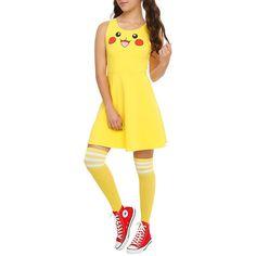 Pokemon Pikachu Costume Dress Hot Topic ($20) ❤ liked on Polyvore featuring costumes, pikachu costume, pokemon cosplay costumes, pokemon costumes, cosplay costumes and role play costumes