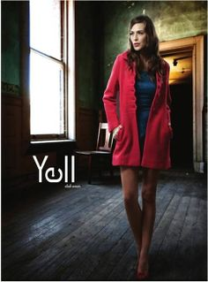 Add colour to your winter wear closet with this gorgeous red overcoat.