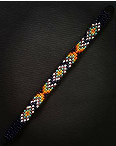 Adjustable beaded bracelet Adjustable up to 9 inches long & 1 cm width Perfect for any occasion Rave Bracelets, Festival Bracelets, Bead Loom Bracelets, Diy Friendship Bracelets Patterns, Loom Bracelet Patterns, Bead Loom Patterns, Native Beading Patterns, Beaded Jewelry Patterns, Jewelry Crafts