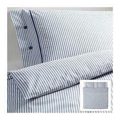 IKEA - NYPONROS, Funda nórd y 2 fundas almohada, 240x220/50x60 cm, , Teñido en hilado. El hilo se tiñe antes de hilarse. El resultado es una ropa de cama de gran suavidad.Ropa de cama muy suave y resistente, ya que es de un tejido denso de hilo fino.Los botones decorativos forrados de tela impiden que el edredón y la almohada se muevan.