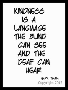 """Motivational  Quote """"Kindness is a Language"""", Wall Decor, 8 x 10"""" Unframed Printed Art Image"""