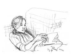 #linefebruary #thedailysketch pencil sketch 10 mins, Daughter Olivia. 07/02/14 http://anthonygreentree-artist.blogspot.co.uk/