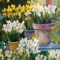 """Daily+Paintworks+-+""""Garden+Chorus""""+-+Original+Fine+Art+for+Sale+-+©+Libby+Anderson"""