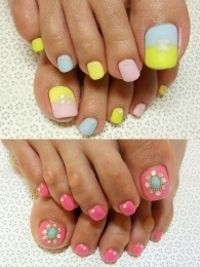 Stylish Pedicure Nail Art Designs for Summer 2012
