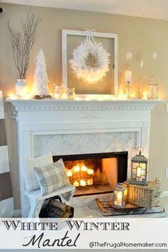 White Winter Mantel