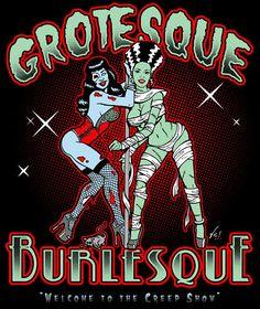 Grotesque Burlesque Rockabilly Psychobilly WORK SHIRT