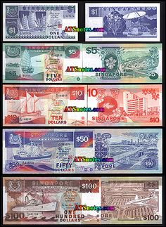 sigapore currency | Singapore banknotes - Singapore paper money catalog and Singaporean ...