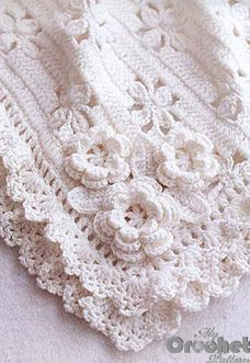 Download our free white crochet blanket with flowers pattern for babies in pdf and the step by step tutorial on how to make it easily and fast. Tips for beginners