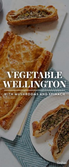 Vegetable Wellington with Mushrooms and Spinach With the help of store-bought puff-pastry sheets, this twist on a comfort-food classic couldn't be easier to make. Get this vegetable wellington recipe here. New Recipes, Holiday Recipes, Vegetarian Recipes, Cooking Recipes, Vegetarian Christmas Recipes, Vegetarian Comfort Food, Budget Cooking, Vegan Thanksgiving, Healthy Recipes