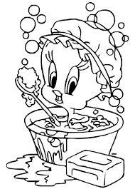 Resultado de imagem para pintura minnie tomando banho