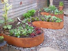 Cheap, creative and modern garden edging ideas for flowers beds and slopes from timber, wood, stone, curved or DIY lawn edging ideas for vegetables. Metal Garden Edging, Lawn Edging, Garden Borders, Steel Edging, Rock Edging, Garden Edging Ideas Cheap, Grass Edging, Diy Garden Bed, Raised Garden Beds