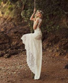 open back sexy boho chic summer wedding dress Rue De Seine