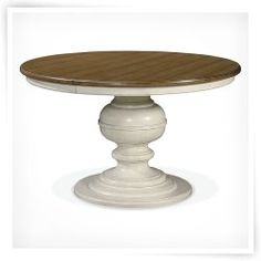 Summer Hill Round Pedestal Dining Table - Cotton