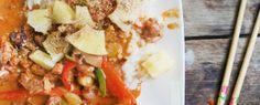 Gewoon wat een studentje 's avonds eet: Oosters: Rijst met een saus van kip tandoori met k...