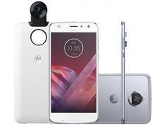 Smartphone Motorola Moto Z2 Play 360 Câmera - Edition 64GB Azul Topázio Dual Chip Câm. 12MP com as melhores condições você encontra no Magazine Thiagolr. Confira!