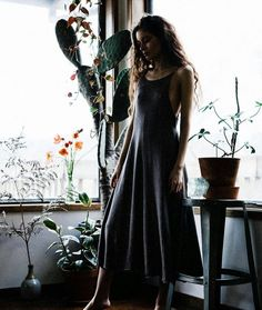 """a809cc658 Sisters of the Black Moon on Instagram  """"Beautiful Brigid Silk and Merino  Dress in Mineral Grey by  morphknitwear is in store now."""