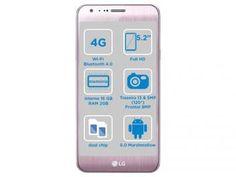 """Smartphone LG Xcam 16GB Rose Gold Dual Chip 4G - Câm. 13MP + Selfie 8MP Flash Tela 5,2"""" Octa Core"""