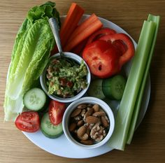 Raw veggies/nuts...great lunch