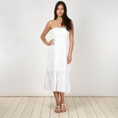 Beach Collection White 2 in 1 dress skirt- at Debenhams.com