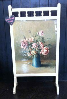 stunning vintage floral fireplace