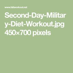Second-Day-Military-Diet-Workout.jpg 450×700 pixels