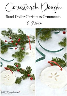 Tutorial for DIY Cornstarch dough Christmas ornaments and recipe. Easy to work with dough, sandable and not sticky, perfect for cookie cutters. Diy Christmas Ornaments, Homemade Christmas, Christmas Decorations, Holiday Decor, Christmas Ideas, Easy Ornaments, Xmas Crafts, Baby Crafts, Holiday Ideas