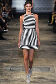 Richard Nicoll RTW Spring 2014 // Learn how to hand render stripes: http://www.universityoffashion.com/lessons/rendering-stripe/