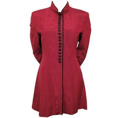 MOSCHINO Couture Burgundy 3/4 Flared Jacket