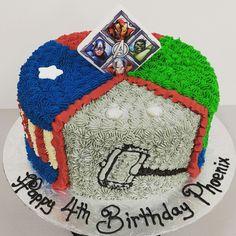 Avengers Birthday Cake