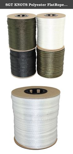 """SGT KNOTS Polyester FlatRope / Arbor Webbing / Utility Rope 5/8-Inch x 100, 300, 500 Feet Spools - Several Colors (5/8""""x300' - White). SGT KNOTS-proud to be a veteran-owned American company-has always been dedicated to bringing you the highest-quality ropes, tie-downs, cables, and accessories at the most affordable prices. That doesn't just mean finding the best materials to use in standard ropes. It also means working with our trusted suppliers to bring you new products that can help…"""