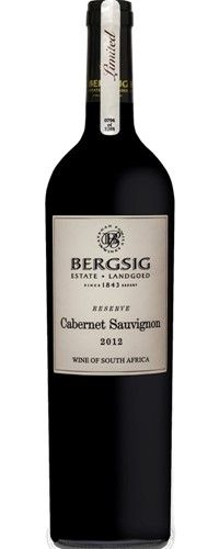 Bergsig Reserve Cabernet Sauvignon Cabernet Sauvignon, Wines, Red Wine, South Africa, Alcoholic Drinks, Bottle, Glass, Drinkware, Flask