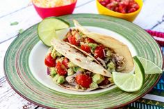 Just A Pinch Healthy Chicken Tacos Recipe Just A Pinch Recipes Healthy Taco Recipes, Healthy Chicken Tacos, Healthy Weeknight Meals, Healthy Tacos, Mexican Food Recipes, Cooking Recipes, Ethnic Recipes, Mexican Dishes, Chicken Meals