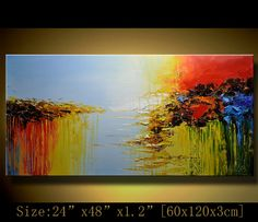 Original Abstract Painting, Modern Landscape Painting ,Palette Knife, Home Decor,Thick Textured Painting on Canvas  by Chen  c068. $218.00, via Etsy.