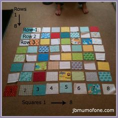 Numbering quilt rows and squares Beginners Quilting Series