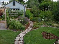 path from recycled concrete