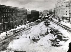 Longacre Square-the future Times Square-after the Blizzard of 1888.
