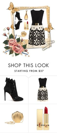 """""""Classic With a Twist"""" by mochachina1 ❤ liked on Polyvore featuring Polaroid, Gareth Pugh, Valentino, Lanvin and Yves Saint Laurent"""