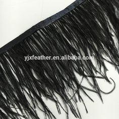 low MOQ cheap10-15cm black ostrich feather trimming