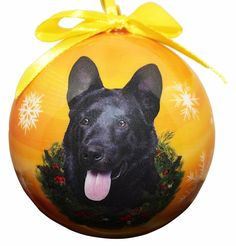 'German Shepherd, Black Christmas Ornament' Shatter Proof Ball Easy To Personalize A Perfect Gift For German Shepherd Lovers ** Startling review available here  : Cat toys