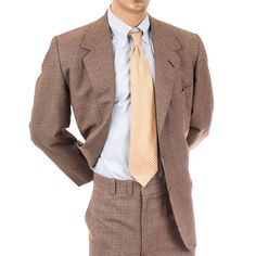 Mens Suit 2 Pc Houndstooth Vtg Oxxford Clothes 46R Wool Pants Blazer Neiman  #OxxfordClothes #MensSuit #SomeLikeItUsed