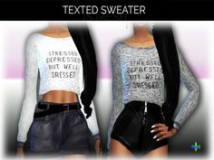 L'Rimshard's Recolor - Texted Sweater - mesh needed