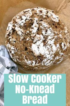 Simple and with no fuss this slow cooker no-knead bread recipe provides you with homemade bread  without the hassle of kneading. It cannot get simpler!