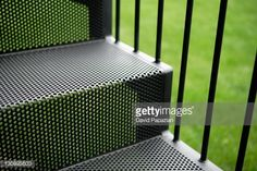 Stock Photo : Black metal outdoor stairs                                                                                                                                                     Más