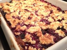 Paleo Berry Cobbler - I substituted the almond meal for 1/3 cup coconut flour and the butter for coconut oil.