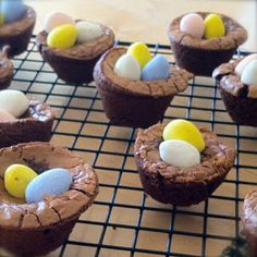 Gluten Free Easter Nests-Nutella Brownies