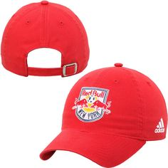 55c9ea6fd9a21 Men s New York Red Bulls adidas Red Slouch Adjustable Hat